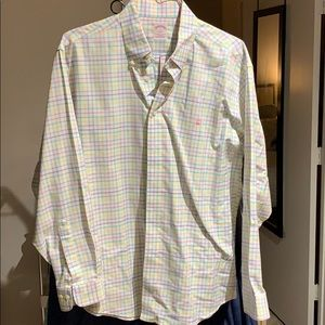 Brooks brothers long sleeve polo button down